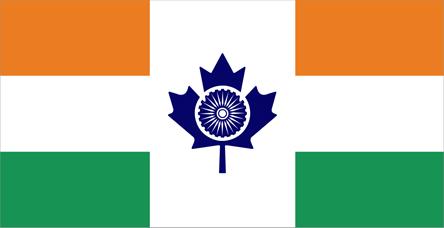 Mixed India And Canada Flag T shirt Designs