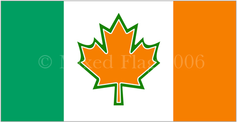 Canada and Ireland flags