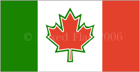 Canada and Italy flags