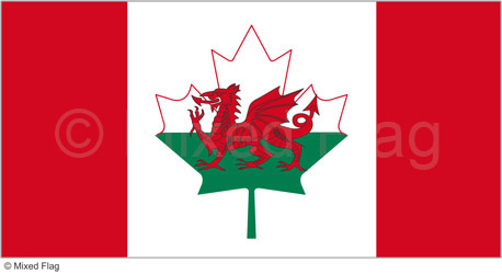 Canada and Wales flags