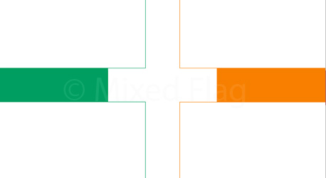 England and Ireland flags