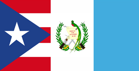 Guatemala And Puerto Rico Flags