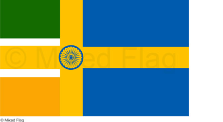 India and Sweden flags