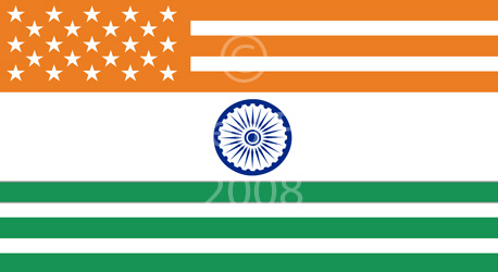 Mixed USA and India Flag T-shirt Designs