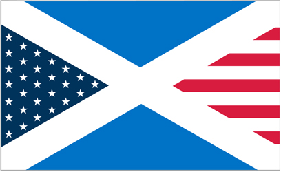 Mixed USA and Scotland Flag T-shirt Designs