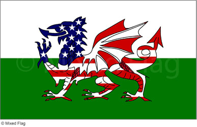 USA and Wales flags